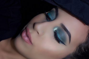 Teal Winged  Eye Makeup