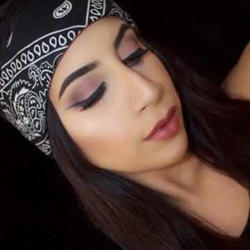 Soft Plum Smokey Winged Eye Makeup