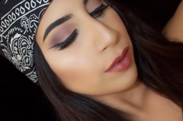 Soft Plum Smokey Winged Eye Makeup
