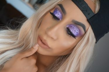 Purple Glitter Eyeshadow