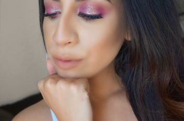 Burgundy Glitter Eyeshadow