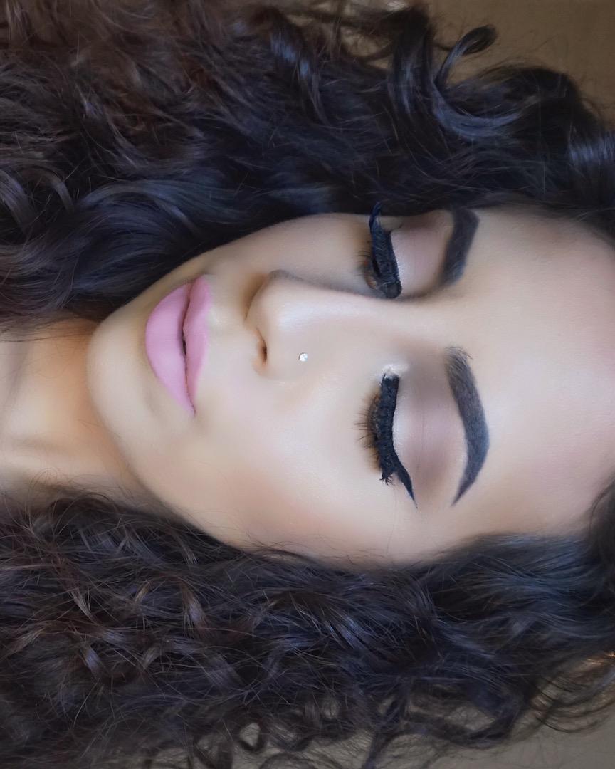 Baby Pink Soft Lip Makeup