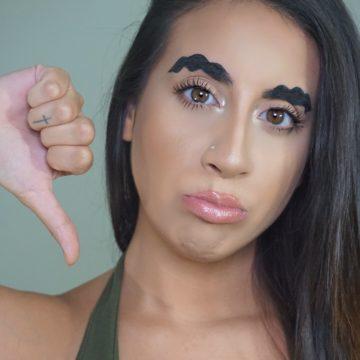 Wavy Brows, Worst Makeup Trend 2017!