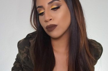 Brown Smokey Eye With A Pop Of Yellow