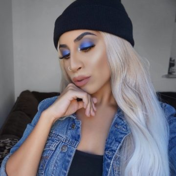 Grungy Electric Blue Eyeshadow