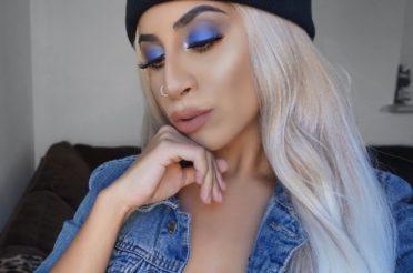 Grungy Electric Blue Eyeshadow