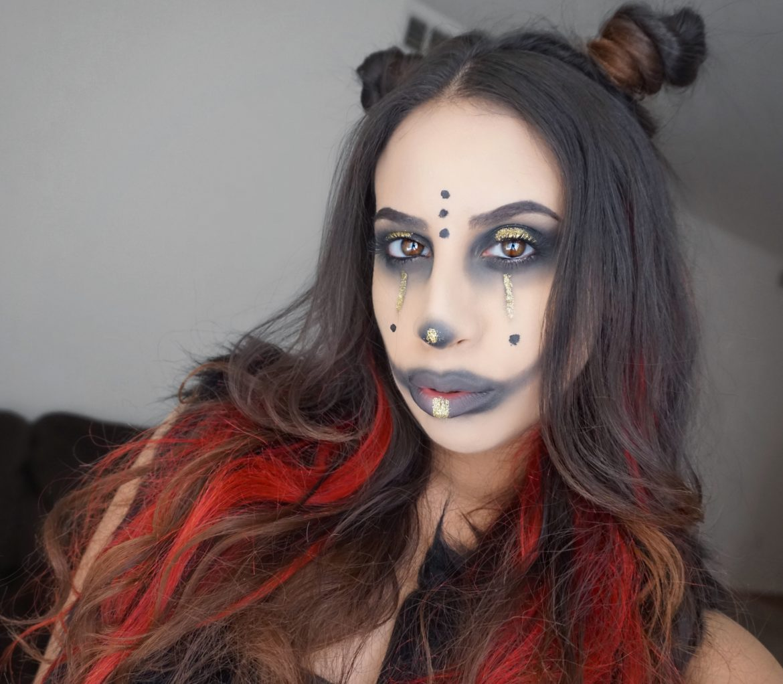 Gothic Clown Halloween Makeup 2017