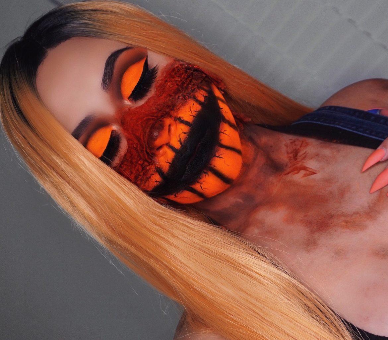 Pumpkin Halloween Makeup