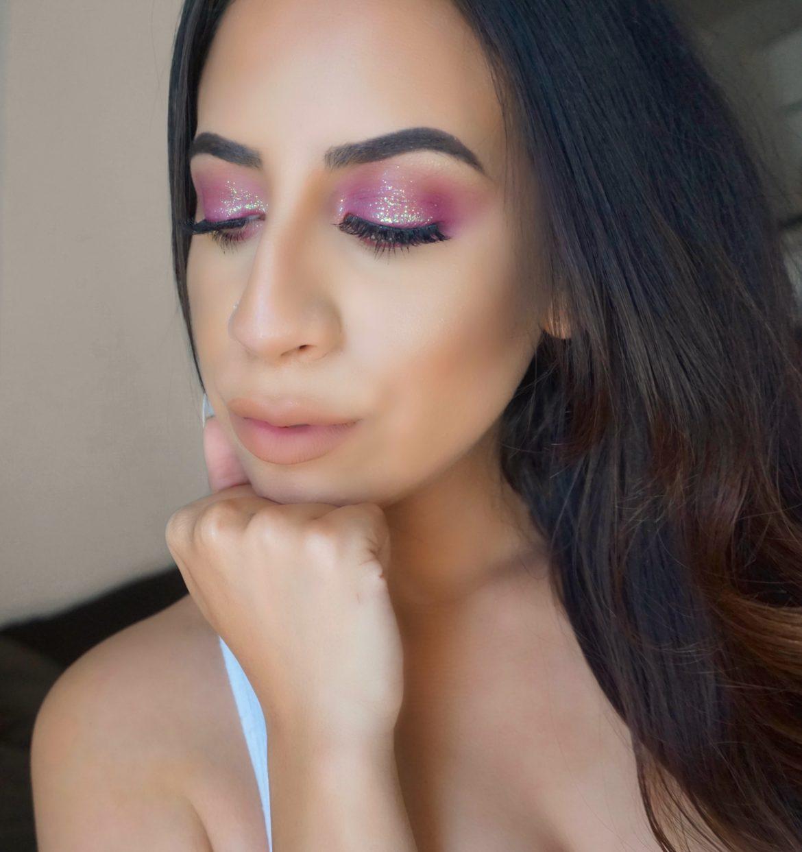 Burgundy Glitter Eyeshadow
