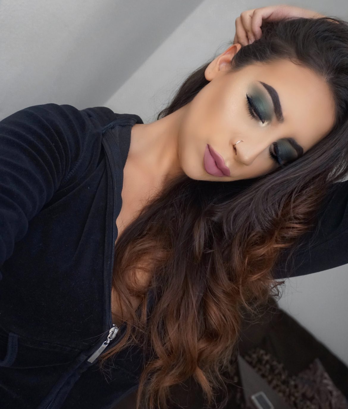 Forest Green Smokey Eyeshadow Makeup