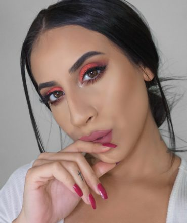 Neon Peach Makeup Tutorial