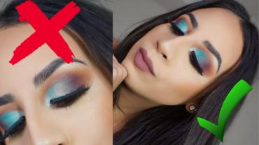 Warm Orange Blue Cut Crease Eyeshadow Tutorial (How To Fix Blotchy Eyeshadow)