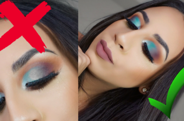 Warm Orange Blue Cut Crease Eyeshadow Tutorial (How To Fix Blotchy Eyeshadow)