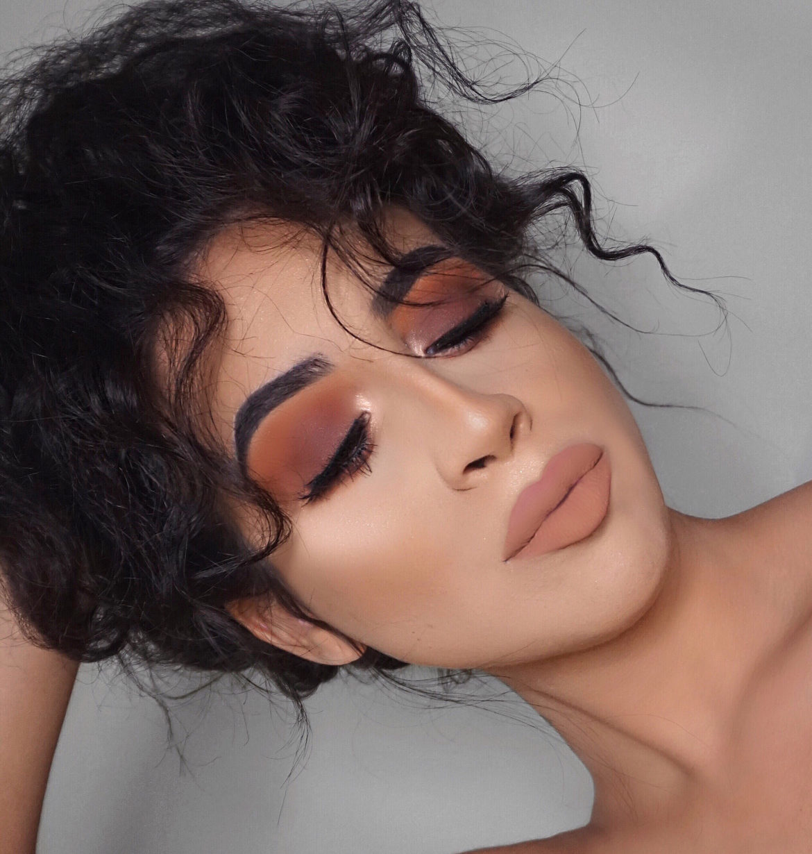 Brown Copper Smokey Eyeshadow